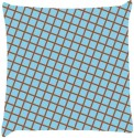 Snoogg Chequered Pattern Design 1524 Throw Pillows 16 X 16 Inch Cushions Cover - Pack Of 1