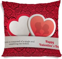ShopMantra Love Hearts Valentine's Day Printed Cushions Cover (40.64 Cm*40.64 Cm)