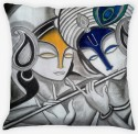 Amore Radha Krishna Abstract Paintings Cushions Cover - Pack Of 1