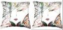 Belkado Digital Print - Pair Of Faces-III Cushions Cover - Pack Of 2