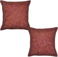 Lal Haveli Embroidered Cushions Cover (Pack Of 2, 41 Cm*41 Cm, Maroon)