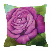 Footpathcrafts Purple Rose Digitally Printed Cushion Cover Printed Cushions Cover (40*40)
