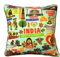 Eco Corner Coloured India Cushions Cover - Pack Of 1