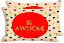 Mesleep Be Awesome Digitally Printed Pillows Cover - Pack Of 2
