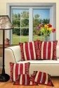 Dekor World Pattern Of Stripes Cushions Cover - Pack Of 5
