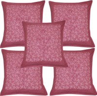 Lal Haveli Sanganeri Attractive Block Print Work Cotton Pillow Cover Printed Cushions Cover (Pack Of 5, 41*41)