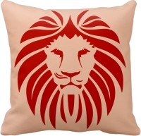 Tiedribbons Lion With Single Color Graphic, Geometric, Printed, Self Design, Floral Cushions Cover (1 Cushion Cover, 40*40)
