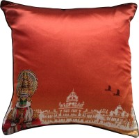 The Indian Promenade Kathakali Shades Of India Graphic Cushions Cover (Multicolor)