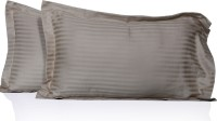 LNT Striped Pillows Cover Pack Of 2, 43.2 Cm*69 Cm, Beige