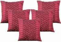 Dekor World World Of Pleated Abstract Cushions Cover (Pack Of 5, 40*40)