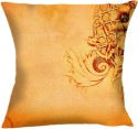 Shopkeeda Beautiful Flower Design On Orange Background Cushions Cover - CPCDWVPQHN6FAG27