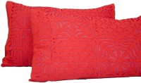 Navrang Colours Of India Floral Pillows Cover Pack Of 2, 41 Cm, Red