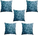 StyBuzz Blue Printed Art Cushions Cover - Pack Of 5