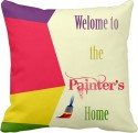 Tiedribbons Welcome To The Painters Home Gifts For Him Cushion Cover - Pack Of 1