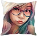 StyBuzz Girl With Glasses Cushion Cover Cushions Cover - Pack Of 1