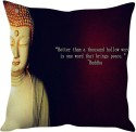 StyBuzz Buddha Quote (12x12) Cushions Cover - Pack Of 1