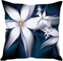 StyBuzz White Floral Abstract Cushions Cover - Pack Of 1