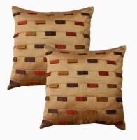 Dekor World Plaid Cushions Cover (Pack Of 2, 60 Cm*60, Beige)