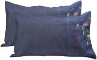 Milano Home Embroidered Pillows Cover Pack Of 2, 48 Cm*76 Cm, Dark Blue - CPCEGVUDZH4V6GTP