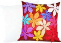 Zikrak Exim Felt Flower Patch With Filler Cushions Cover - Pack Of 2