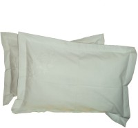 Amita Home Furnishing Embroidered Pillows Cover Pack Of 2, 43 Cm*69 Cm, White - CPCE6ZG3NYDRNHCK