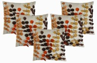 Dekor World Floral Patch Work Collection Cushions Cover (Pack Of 5)