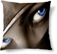 Amy Pretty Blue Eyes Abstract Cushions Cover (40.64 Cm*40.64 Cm, Multicolor)