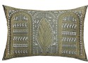 13 Odds 13 Odds Shaurya Art, Embroidery, Green/ Gold/Silver Cushion Cushions Cover - Pack Of 1
