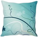 StyBuzz Blue Abstract Cushion Cover Cushions Cover - Pack Of 1