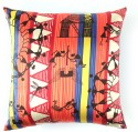 The Elephant Company Dancing Warli Cushions Cover - Pack Of 1