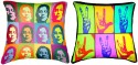 Belkado Digital Print - Combo Of John Lenin & Hands Cushions Cover - Pack Of 2