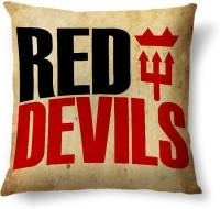 ShopMantra Red Devils Man Utd Printed Cushions Cover (Cushion Pillow Cover, 40.64 Cm*40.64 Cm)