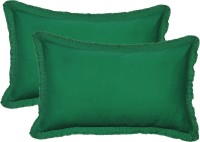Furnishia Plain Pillows Cover (Pack Of 2, 45.72 Cm*68.58 Cm, Green)