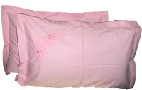 Amita Home Furnishing Embroidered Pillows Cover Pack Of 2, 43 Cm*69 Cm, Pink