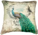 Belkado Digital Print Peacock IV Cushions Cover - Pack Of 1