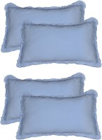 Furnishia Plain Pillows Cover (Pack Of 4, 45.72 Cm*68.58 Cm, Blue)