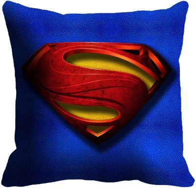 Mesleep Blue bright logo Superman Digitally Printed Cushions Cover Pack of 1