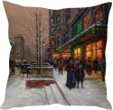 StyBuzz Snow Art Painting Cushions Cover - Pack Of 1