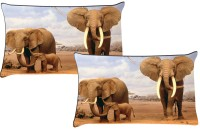 Footpathcrafts Set Of 2 Pc Digitally Printed -Size(18x27) Printed Pillows Cover (Pack Of 2, 69*46, Multicolor)