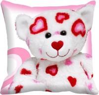 MeSleep Teddy Bear Digitally Printed Cushions Cover (Pack Of 1)
