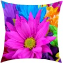 MeSleep Multi Flower Cushion Cover - Pack Of 1