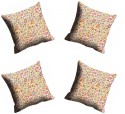 MeSleep Multi Abstract Cushions Cover - Pack Of 4