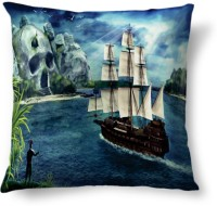 Amy Boat Island Skull Abstract Cushions Cover (40.64 Cm*40.64 Cm)