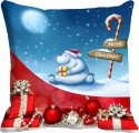 Mesleep Merry Christmas Gift Digitally Printed Cushions Cover - Pack Of 1