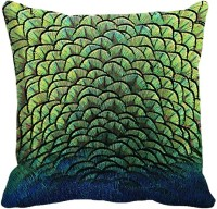 MeSleep Feather Digitally Printed Cushions Cover (40.64 Cm*40.64 Cm, Multicolor)