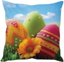 StyBuzz Beautiful Easter Eggs Cushions Cover - Pack Of 1