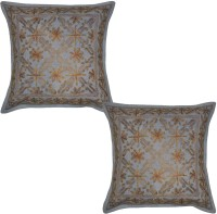 Lal Haveli Embroidered Cushions Cover (Pack Of 2, 41 Cm*41 Cm, Grey) - CPCE8BZ9VATKMMHN