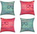 "SEJ By Nisha Gupta HD Digital Print Silk 16"" By 16"" Cushion Cover. Cushions Cover - Pack Of 4 - CPCDYVZ5SRDW6MNG"