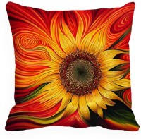 MeSleep Sun Flower Digitally Printed Cushions Cover (40.64 Cm*40.64 Cm, Multicolor)