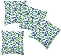 Smart Home Textile Polka Cushions Cover (Pack Of 4, 35 Cm*35 Cm, Green, Blue)